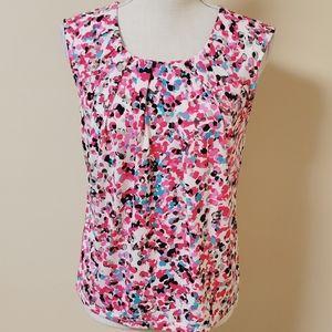 Kasper multicolored speckled blouse size sp